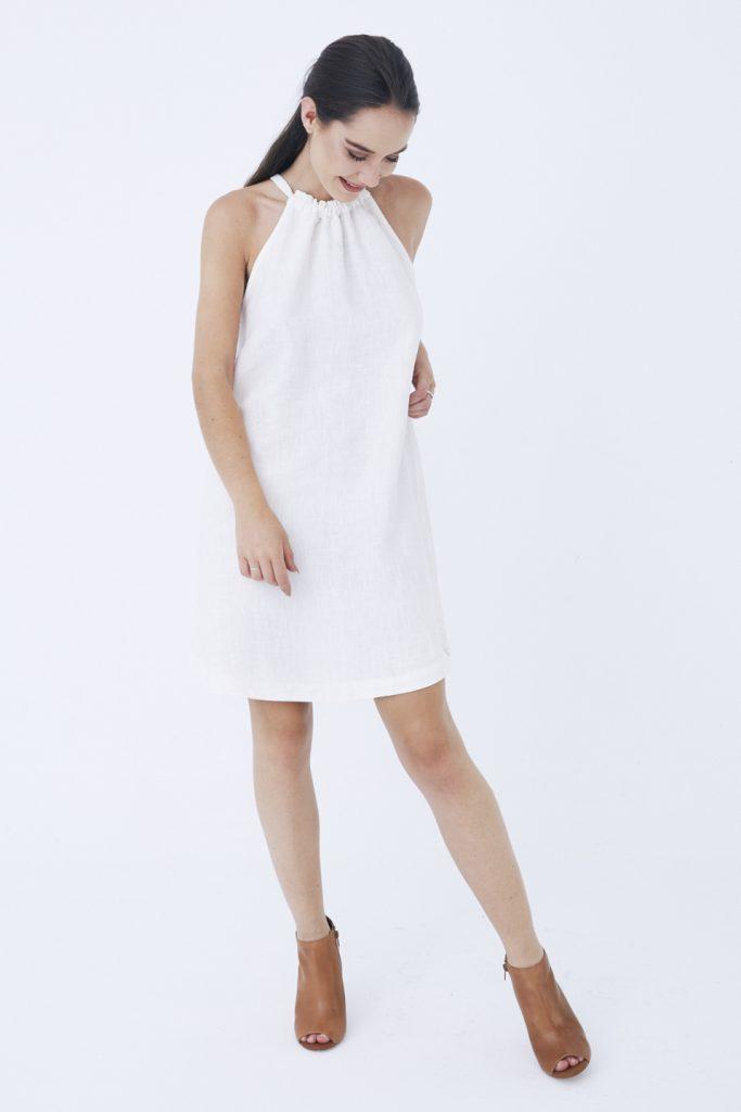 86331b1189 Inicio   Vestidos para mujer cosidos en España   Vestidos cortos de mujer.  La mejor moda española   Venice Lino – Vestido mini